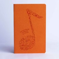 Doodle Music Sound Of Music Diary A5 Stationary Notebook Soft Bound Orange
