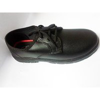 Smart Boy Synthetic Leather Shoes Black
