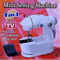 4 In 1 Mini Sewing Machine With Foot Pedal And Adapter [CLONE]