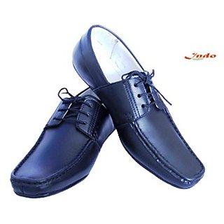 Indo black designed formal leather shoes-export Quality(LA0007L)