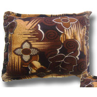Cushion Filler Silk Cotton  With Velvet Cover-Dark Brown Color Square