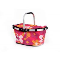Folding Shopping Basket - Pink