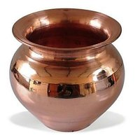 Copper Vessel Kalash Tambya Lota (1Ltr)