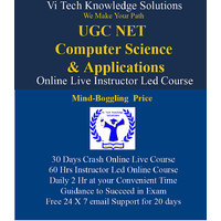 UGC NET  Computer Science And Applications Online Instructor Led Course