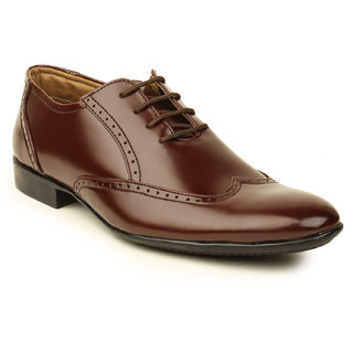 Metrogue Men's Brown Brogue Shoes