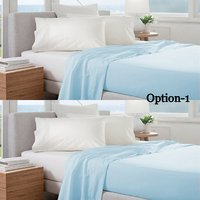 Set Of 2 100% Cotton Solid Color Single Bed Sheet Cum Top Sheet