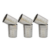 Set Of 6 Stainless Steel Glasses Premium Quality