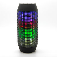 Callmate Q600 Bluetooth Speaker With Flashing Colorful LED Lights & Torch -Black