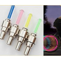 CAR BYKE TYRE LED COLORFUL FLASH LIGHT FLASH VALVE SEALING CAP SET OF 2 PIECES