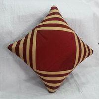 Cushion Cover Red And Beige