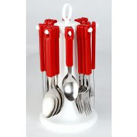 Elegante 24 Pcs. Tablecraft Cutlery Set (Red)