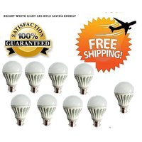 LED BULB 7W BRIGHT WHITE LIGHT LED BULB SAVING ENERGY Set OF 9 Pcs