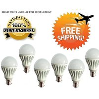 LED BULB 3W BRIGHT WHITE LIGHT LED BULB SAVING ENERGY Set OF 6 Pcs (A)