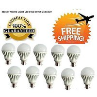 LED BULB 3W BRIGHT WHITE LIGHT LED BULB SAVING ENERGY Set OF 10 Pcs (A)