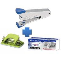 Combo Set Stapler  + Stapler Pins + Paper Punch Machine