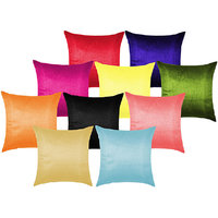 Plain Multi Cushion Cover 30X30 Cms (Pack Of 10)