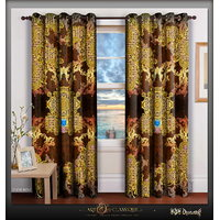 DevarshyStylish Luxurious Designer Home Long Door Window Curtains