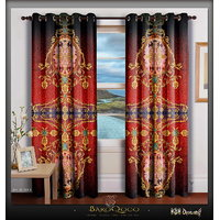 Digital Print Designer Devarshy Eyelets Door Window Curtains Blinds