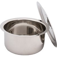 Bhalaria Stainless Steel Round Bottom Tope Set With Lids 3 Sizes