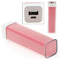 2600 MAh Power Bank For Mobile Charging/Backup Pink Lipstik