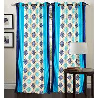 Divine Magic Aqua Sparkle Curtain(Set Of 2)