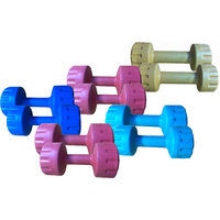 Body Maxx Family Pvc Colored Dumbells Sets 1 KG + 2 KG + 3 KG + 4 KG + 5 KG