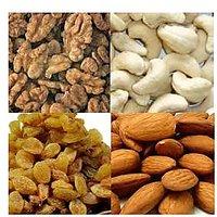 Wallnut 250 Gms. + Almond 250 Gms. + Cashewnut 250 Gms. + Kishmish 250 Gms.