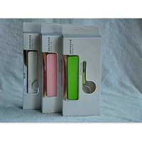 2600 MAh Pocket Power Bank For Mobile Phone & USB Devices Emergency Charger