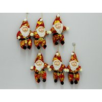 Christmas Tree Decor Santa Set Of 6 Red