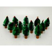 Beautiful X Mas Table Tree Set Of 12 Green