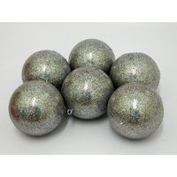 Nice Decorative Balls For Christmas Tree Set Of 6 Silver