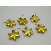Christmas Tree Decorative Star Set Of 6 Gold