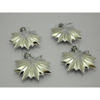 Christmas Tree Decorative Star Set Of 4 Silver
