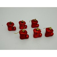 Christmas Tree Decorative Anta Shoe Set Of 6 Red
