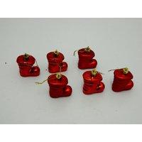 Christmas Tree Decorative Anta Shoe Set Of 6 Red