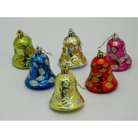 Christmas Tree Decorative Hanging Bells Set Of 6