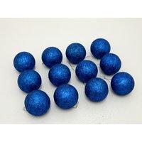 Christmas Tree Decorative Balls Set Of 12 Blue