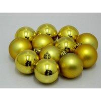 Beautiful Christmas Tree Decorative Hanging Balls Set Of 12 Gold