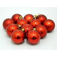 Beautiful Christmas Tree Decorative Hanging Balls Set Of 12 Red