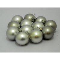 Beautiful Christmas Tree Decorative Hanging Balls Set Of 12 Silver