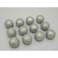Cristmas Tree Decor Decorative Balls Set Of 12 Silver