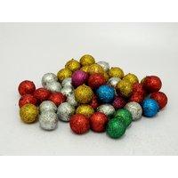 Multicolor Balls Christmas Tree Decor Hanging Balls Set Of 48