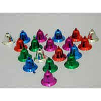 Christmas Tree Decorative Hanging Bells Set Of 20 Multicolor