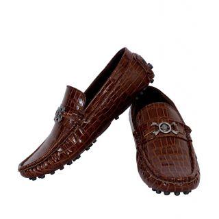 Elvace Brown Slip-on Loafer Men Shoes
