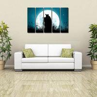 Shri Krishna Like Modern Wall Art Painting - 5 Frames (148 X 76 Cms) 5Frames0005