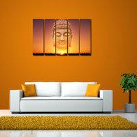 Buddha Like Modern Wall Art Painting - 5 Frames (148 X 76 Cms) 5Frames0013