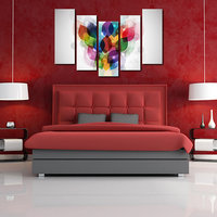 Colors Like Modern Wall Art Painting - 5 Frames (148 X 76 Cms) 5Frames0059