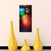 Water Drops Like Modern Wall Art Painting-2 Frames (76x25 Cm) 2Frames0001
