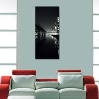 Lake City Like Modern Wall Art Painting -2 Frames (76x25 Cm) 2Frames0003