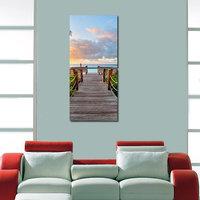 Wood Bridge Like Modern Wall Art Painting -2 Frames (76x25 Cm) 2Frames0005